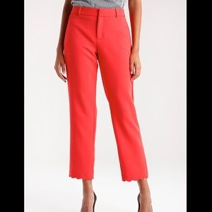 NWT Banana Republic Red Orange Avery Pants Size 4